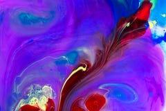 Líquidos coloridos subacuáticos Composición abstracta colorida imagenes de archivo