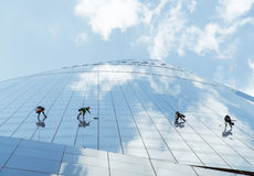 Líquidos de limpeza de janela foto de stock royalty free