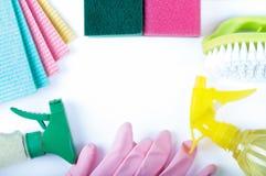 líquidos de limpeza naturais Eco-amigáveis, produtos de limpeza fotografia de stock