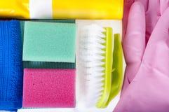 líquidos de limpeza naturais Eco-amigáveis, produtos de limpeza Limpeza verde caseiro no fundo branco Fotografia de Stock Royalty Free