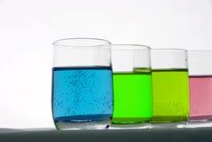 Líquidos químicos Imagen de archivo