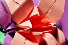 Lírios do origâmi Imagem de Stock Royalty Free