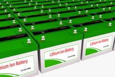 Lítio Ion Battery Bank Foto de Stock Royalty Free