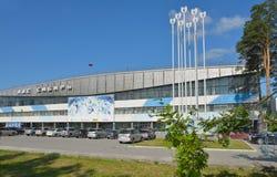 Lód bawi się pałac Syberia w Novosibirsk, Rosja Obraz Royalty Free