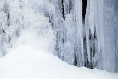 Lód i śnieżna jama fotografia royalty free