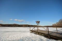 Lód i niebo fotografia royalty free