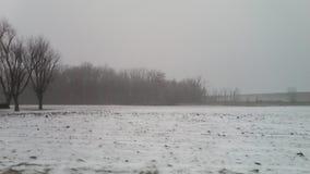Lód i śnieg Kemp droga w Lima, daleko, Ohio Zdjęcie Stock