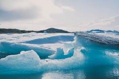Lód i woda fotografia stock