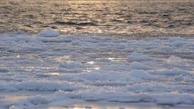 Lód kiwa na fala zbiory wideo