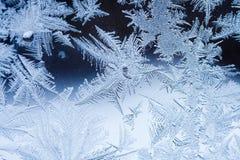 Lód kwitnie na szkle Zdjęcia Royalty Free