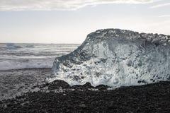 lód, Lodowa formacja, szczegóły lód od Jokulsarlon Zdjęcia Royalty Free