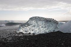 lód, Lodowa formacja, szczegóły lód od Jokulsarlon Obrazy Stock