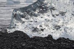 lód, Lodowa formacja, szczegóły lód od Jokulsarlon Obraz Stock