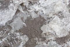 Lód marznąć kałuże zdjęcia royalty free