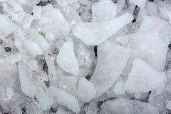 Lód na asfalcie Tekstura lód Zdjęcia Stock