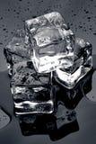 Lód na czerni Fotografia Royalty Free