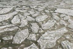 Lód na dennej powierzchni - Textura Zdjęcie Stock