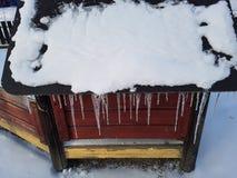 Lód na domu Fotografia Stock