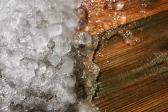 Lód na drewnie Zdjęcie Royalty Free