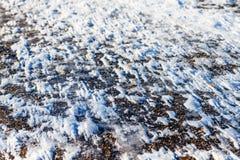 Lód na drodze Zdjęcie Stock