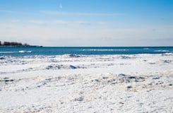 Lód na Jeziornym Ontario Obrazy Stock
