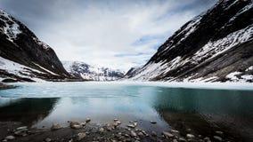 Lód na jeziorze fotografia stock