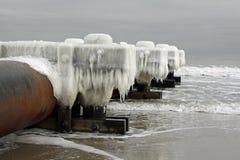 Lód na plaży Obraz Stock