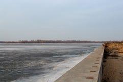 Lód na rzece w wiośnie Zdjęcie Stock