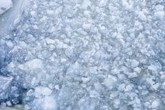Lód na rzecznym odgórnym widoku zdjęcia stock