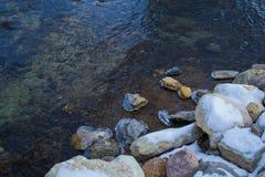 Lód na skałach Fotografia Royalty Free