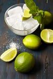 Lód, nowi liście, cukier i wapno, Zdjęcie Stock