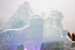Lód postacie w Moskwa Obraz Royalty Free