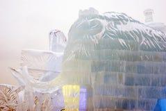 Lód postacie w Moskwa mamut Obraz Royalty Free