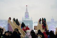 Lód postacie w Moskwa Moskwa Kremlin model Fotografia Royalty Free