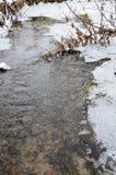 Lód przy rzeką przy zimą Zdjęcia Stock