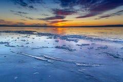 Lód przy zmierzchem Fotografia Royalty Free