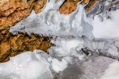 Lód w jamie Obrazy Stock