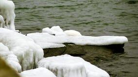 lód w wodzie podczas zimy zdjęcia stock