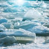 Lód w zatoce Finlandia Obrazy Royalty Free