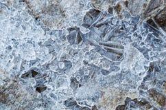 Lód z bąblami powietrze Obraz Stock