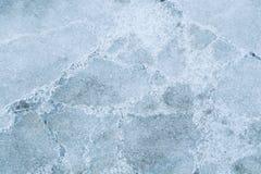 Lód z bąblami powietrze Zdjęcie Stock