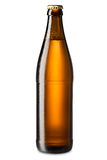 Lód - zimna piwna butelka Zdjęcia Stock