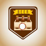 lód - zimnego piwa emblemat royalty ilustracja