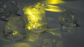 Lód - zimno Topiący wapna światło Fotografia Stock