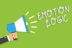 Lógica de la emoción del texto de la escritura Corazón del significado del concepto u hombre de la balanza de Brain Soul o del ig Imagen de archivo libre de regalías