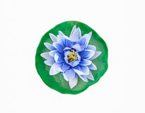 Lótus azuis feitos do papel da amoreira Imagens de Stock Royalty Free