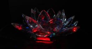 Lótus carmesins de cristal Foto de Stock Royalty Free