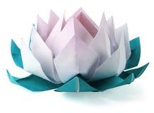 Lótus de Origami Imagem de Stock