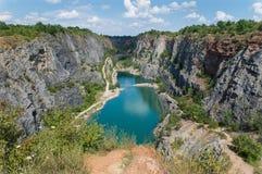 Lótus de vista celestiais em uma lagoa Imagem de Stock