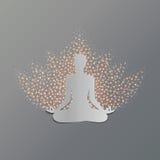 Lótus do asana da ioga Fotos de Stock Royalty Free